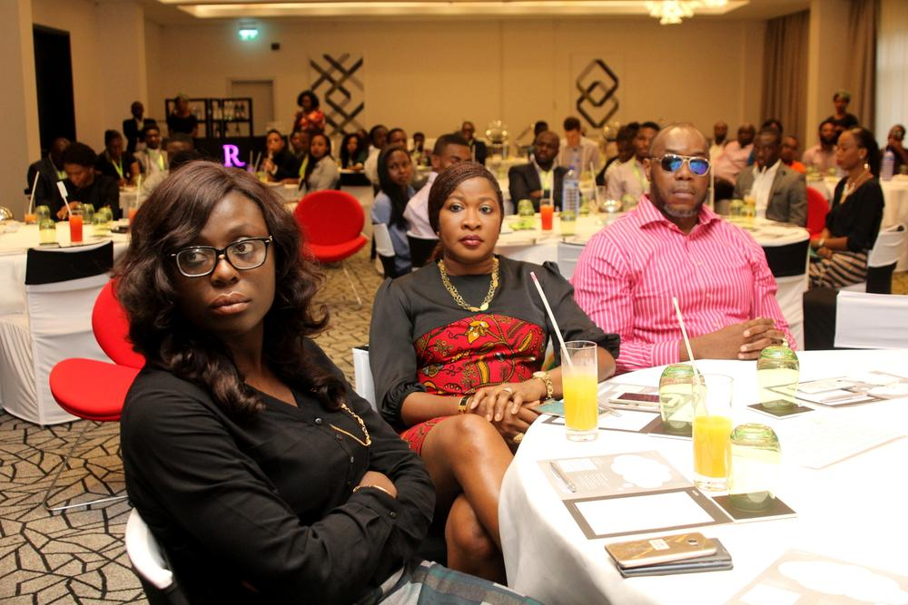 Josephine Sarouk, Senior Manager, Corporate Segment, MTN Nigeria; Onyinye Ikenna-Emeka, General Manager, Enterprise Marketing, MTN Nigeria; Lorenz Mba, Consultant, Canig Innovative Solutions.