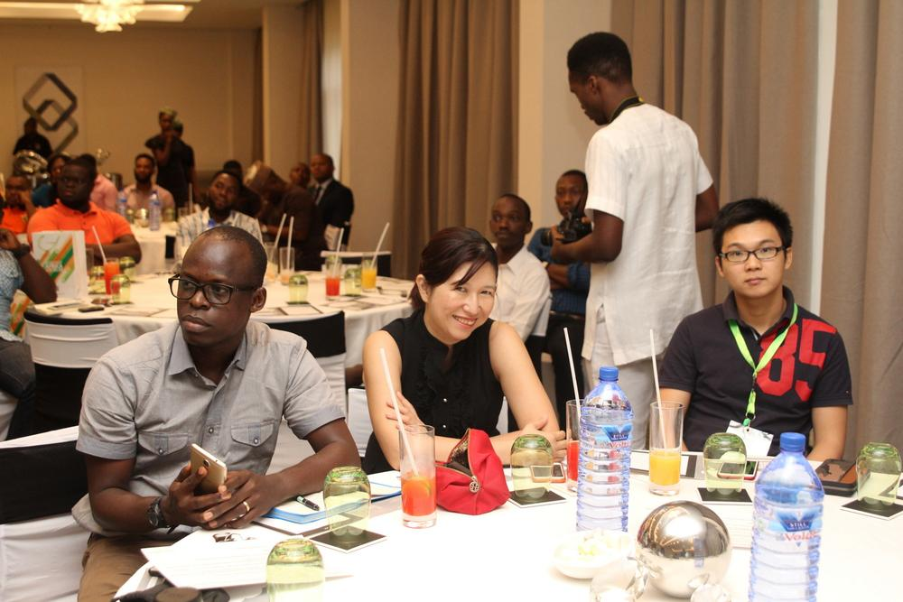 Jesse Oguntimehin, Deputy Marketing Manager, Tecno Mobile; Philicia Lai, Assistant GM,Afmobi; Micheal Hu, Country Manager,Afmobi
