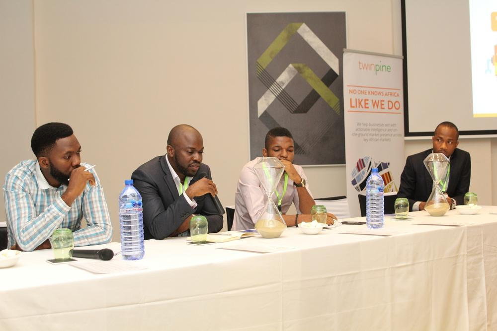 John Iseghohi, Digital Marketing & Strategy at Etisalat; Oti Ukubeyinje, Media Director at Sponge Digital; Tunde Kara, Director, Sales & Bus Dev (Pulse.ng) Ringier Africa; Oduntan Odubanjo, Chief Operation Officer, Twinpine