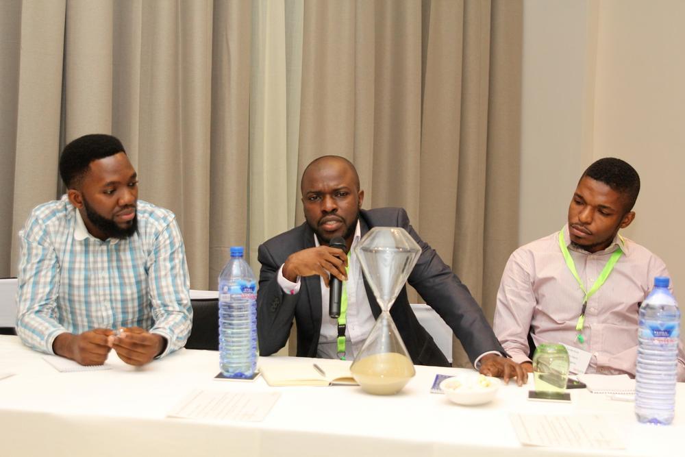 John Iseghohi, Digital Marketing & Strategy at Etisalat; Oti Ukubeyinje, Media Director at Sponge Digital; Tunde Kara, Director, Sales & Bus Dev (Pulse.ng) Ringier Africa