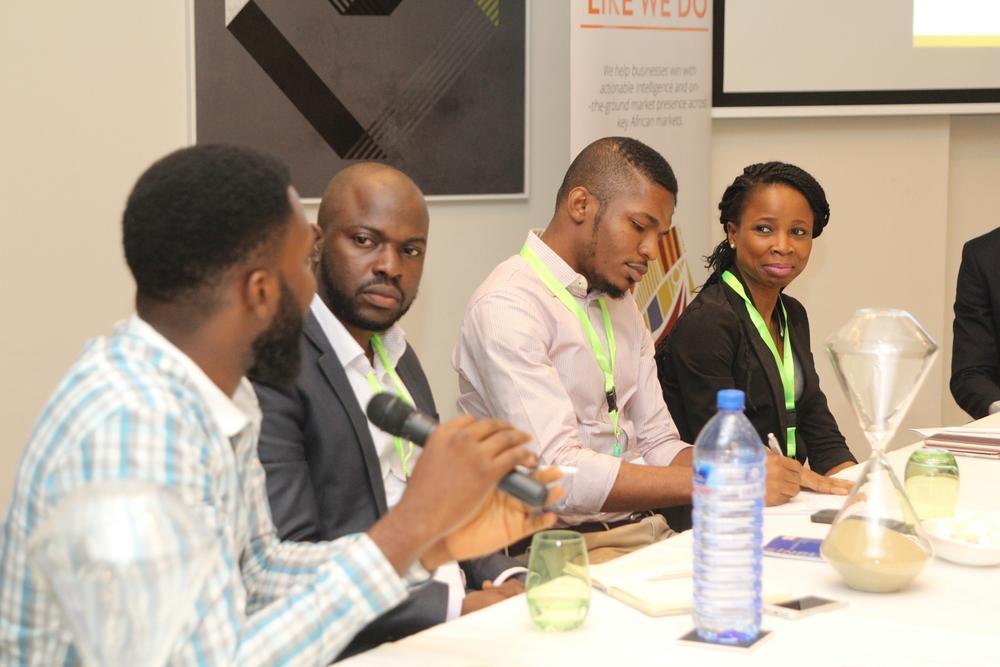 John Iseghohi, Digital Marketing & Strategy at Etisalat; Oti Ukubeyinje, Media Director at Sponge Digital; Tunde Kara, Director, Sales & Bus Dev (Pulse.ng) Ringier Africa; Jumoke Okikiolu, Head Product Marketing at Samsung West Africa