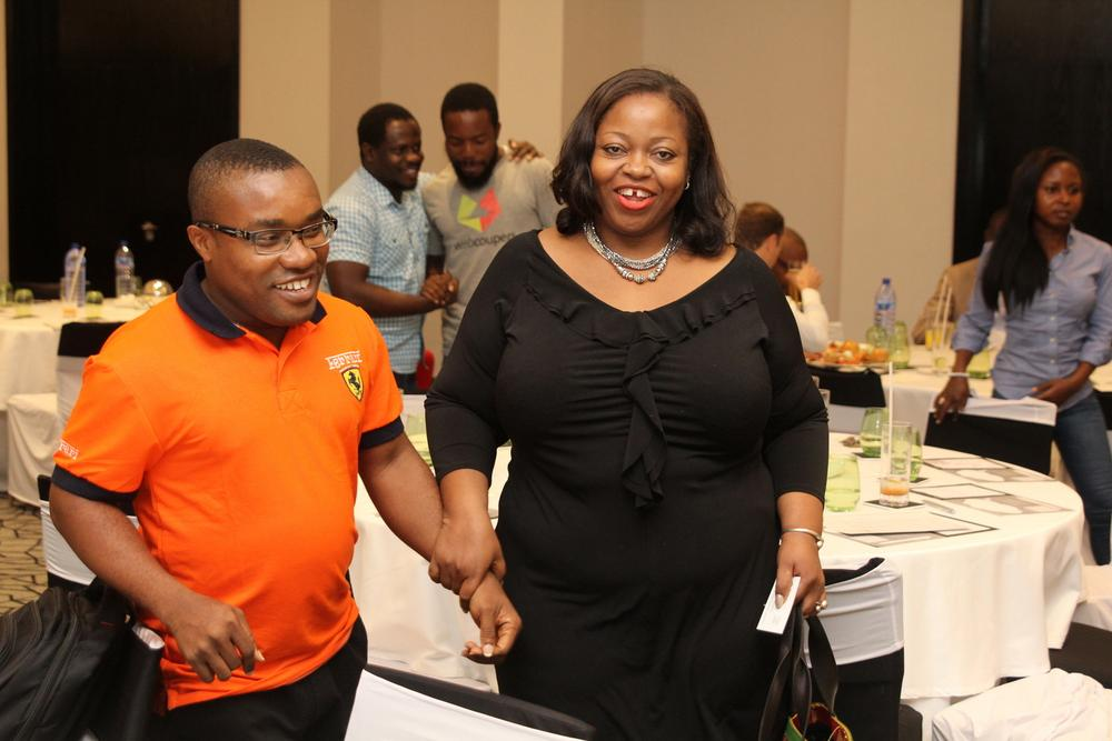 Essien Ekemini, Brand Manager, Ribenna; Rosemary Akpo, Africa Marketing Director - Ribena.