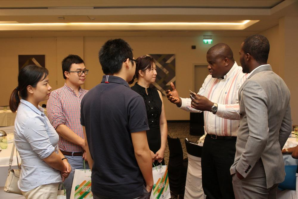 Micheal Hu, Country Manager,Afmob Nigeria; Ian Pan, Marketing Manager, Tecno Tablet; King Dong, Country Manager, Transsion Holding; Philicia Lai, Assistant GM,Afmobi Africa; Elo Umeh, Founder, Twinpine; Tosin Sawyerr, Head of Business Development, Afmobi Nigeria.
