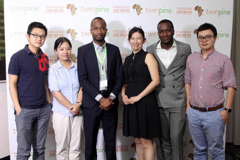 Figure 2Micheal Hu, Country Manager,Afmob Nigeria; Ian Pan, Marketing Manager, Tecno Tablet; Oduntan Odubanjo, Chief Operation Officer, Twinpine; Philicia Lai, Assistant GM,Afmobi Africa; Tosin Sawyerr, Head of Business Development, Afmobi Nigeria; King Dong, Country Manager, Transsion Holding
