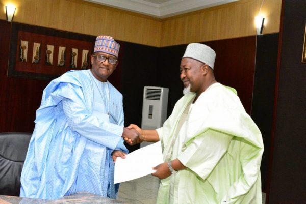 Ali Indimi (L) and Governor Badaru (R)