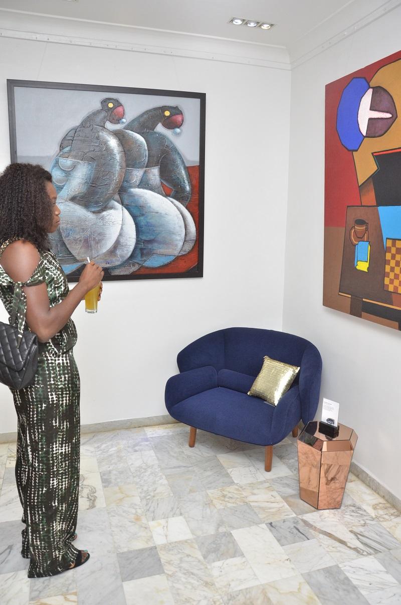 japanese-oki-satos-chair-surrounded-by-nigerian-art
