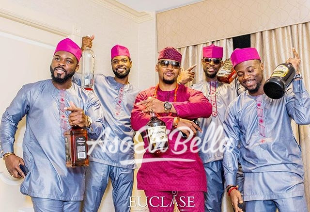 Kunle & his Men #MoKa2016 Photo @euclase_ltd Event Coordinator @ephrathevents Groomsmen Outfits @getfabwithhnk Aso Ebi @hademedayfabrics_aso