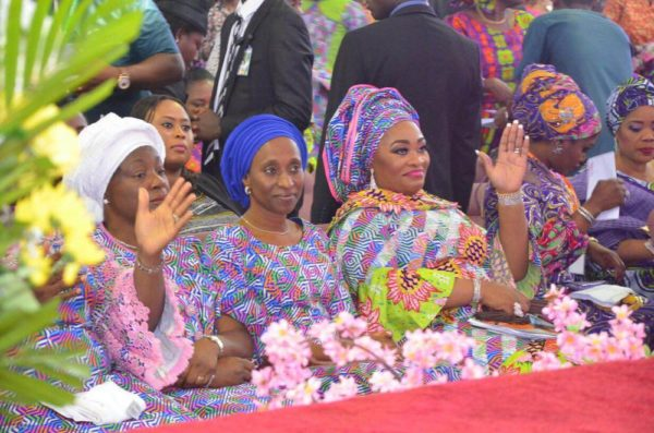 L-R Labo Ademola Head of Service Lagos State H.E Dolapo Osinbajo Wife of the Vice president of Federal Republic of Nigeria, Pastor Siju Iluyomade Convener Arise Women's Conference