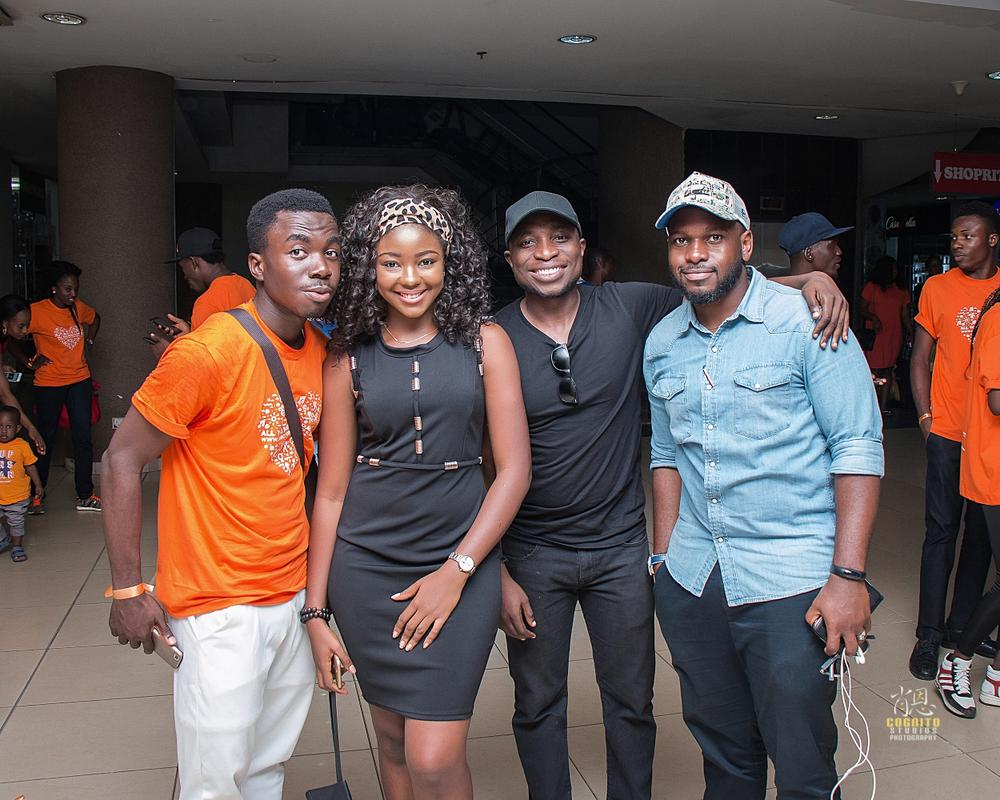 Left to right DFK Participant and Miss Tourism Nigeria Globe and DFK group leader and Co-Founder Kindness Africa