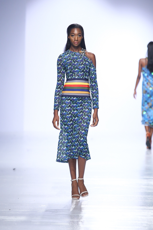 The dress as displayed at the LFDW Spring/Summer 2017 runway