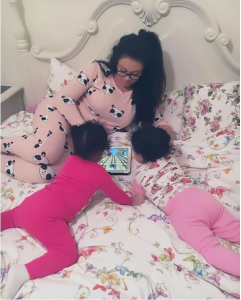 Image result for Nadia Buari shares new photos of her twin daughters