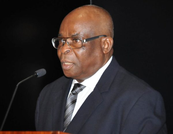 Pic 24. Acting Chief Justice of Nigeria Justice Walter Onnoghen speaking during his inauguration at the Presidential Villa in Abuja on Thursday (10/11/16) 8363/10/11/2016/Callistus Ewelike/NAN