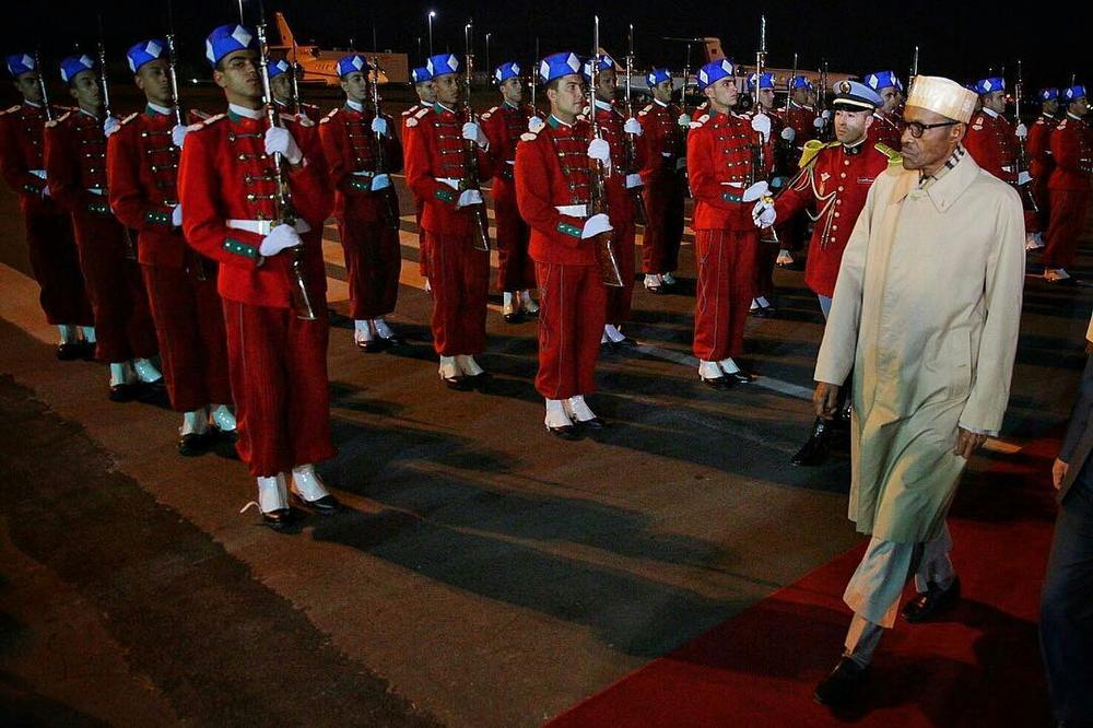 President Buhari arrives Morocco2