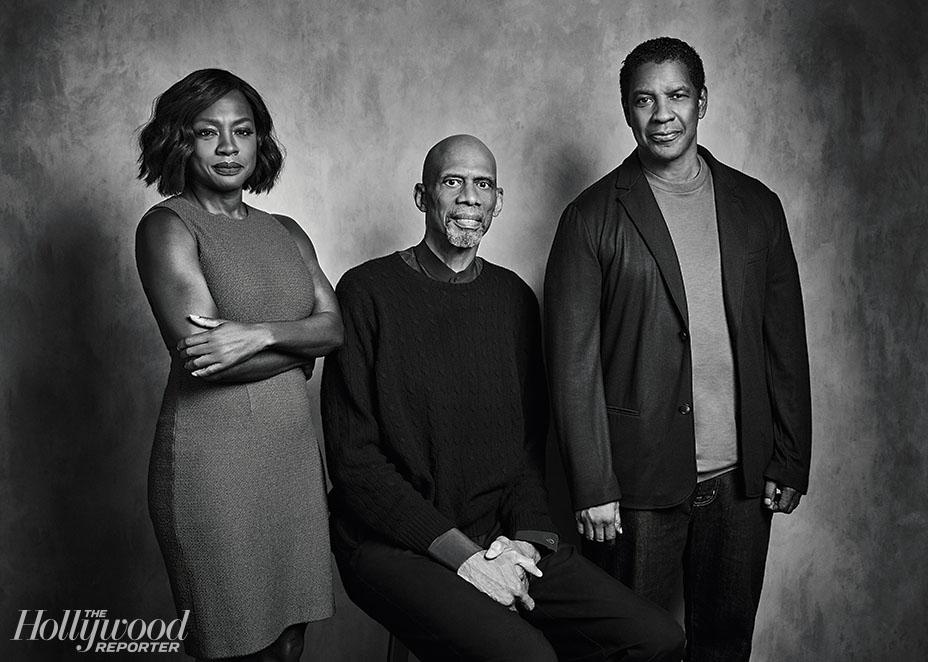 Viola Davis, Kareem Abdul Jabbar & Denzel Washington