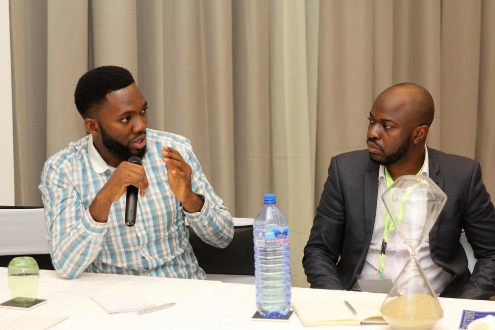 John Iseghohi, Digital Marketing & Strategy at Etisalat; Oti Ukubeyinje, Media Director at Sponge Digital;