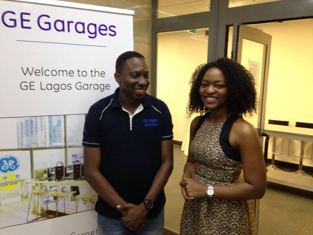 With GE Engineer, Chika Obuah