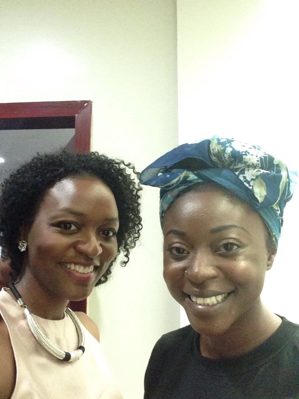 Gbemisola with Afua Osei