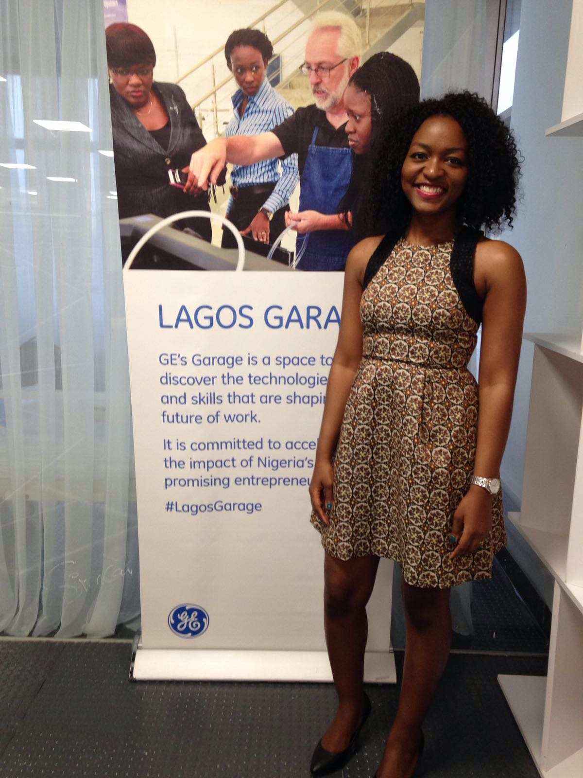 At GE Lagos Garage