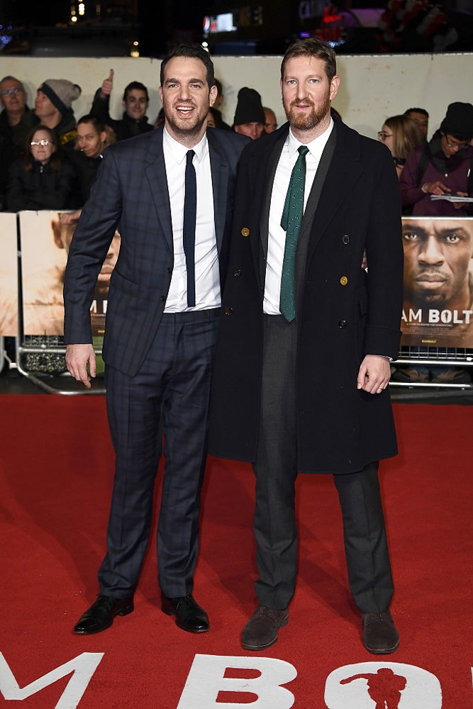 "LONDON, ENGLAND - NOVEMBER 28: (L-R) Co-Directors Gabe Turner and Benjamin Turner attend the World Premiere of ""I Am Bolt"" at Odeon Leicester Square on November 28, 2016 in London, England.  (Photo by Gareth Cattermole/Getty Images)"
