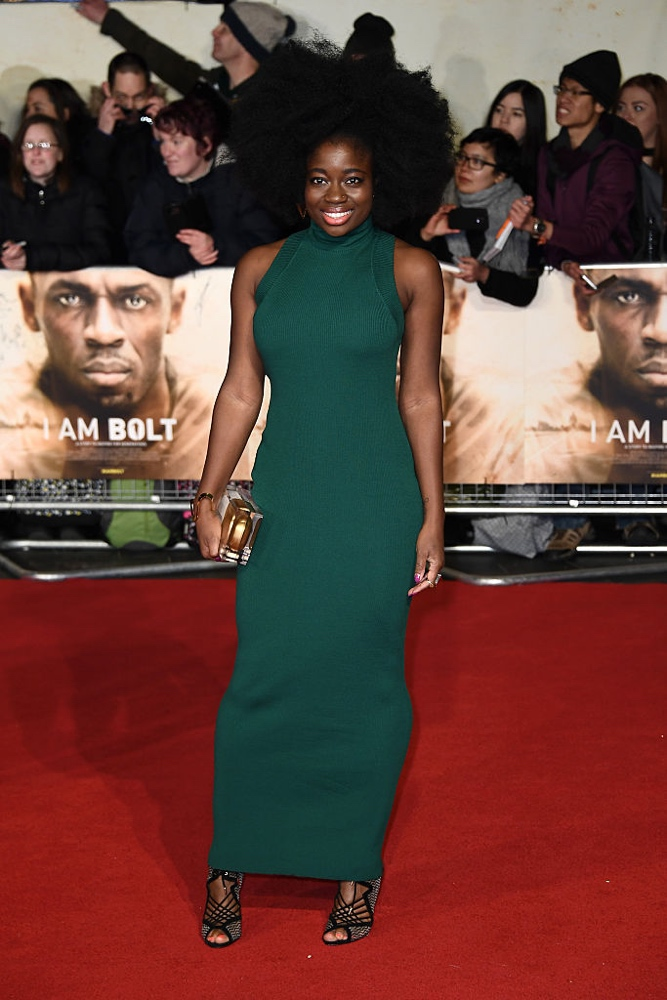 "LONDON, ENGLAND - NOVEMBER 28: BBC Radio 1 Presenter Clara Amfo attends the World Premiere of ""I Am Bolt"" at Odeon Leicester Square on November 28, 2016 in London, England.  (Photo by Gareth Cattermole/Getty Images)"
