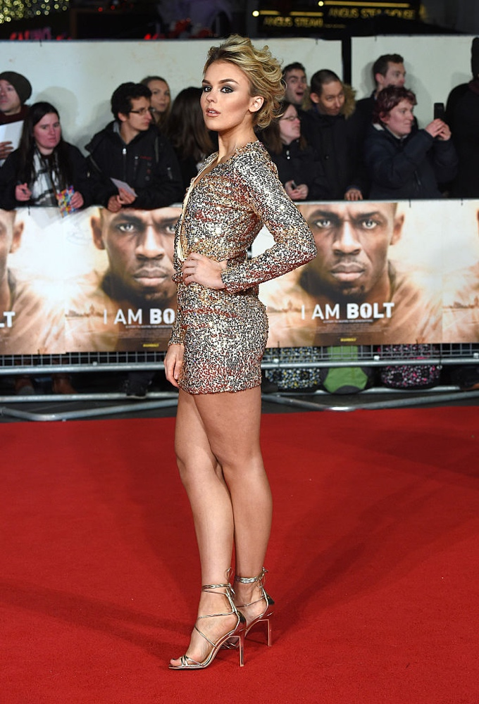 "LONDON, ENGLAND - NOVEMBER 28:  Tallia Storm attends the World Premiere of ""I Am Bolt"" at Odeon Leicester Square on November 28, 2016 in London, England.  (Photo by Anthony Harvey/Getty Images)"