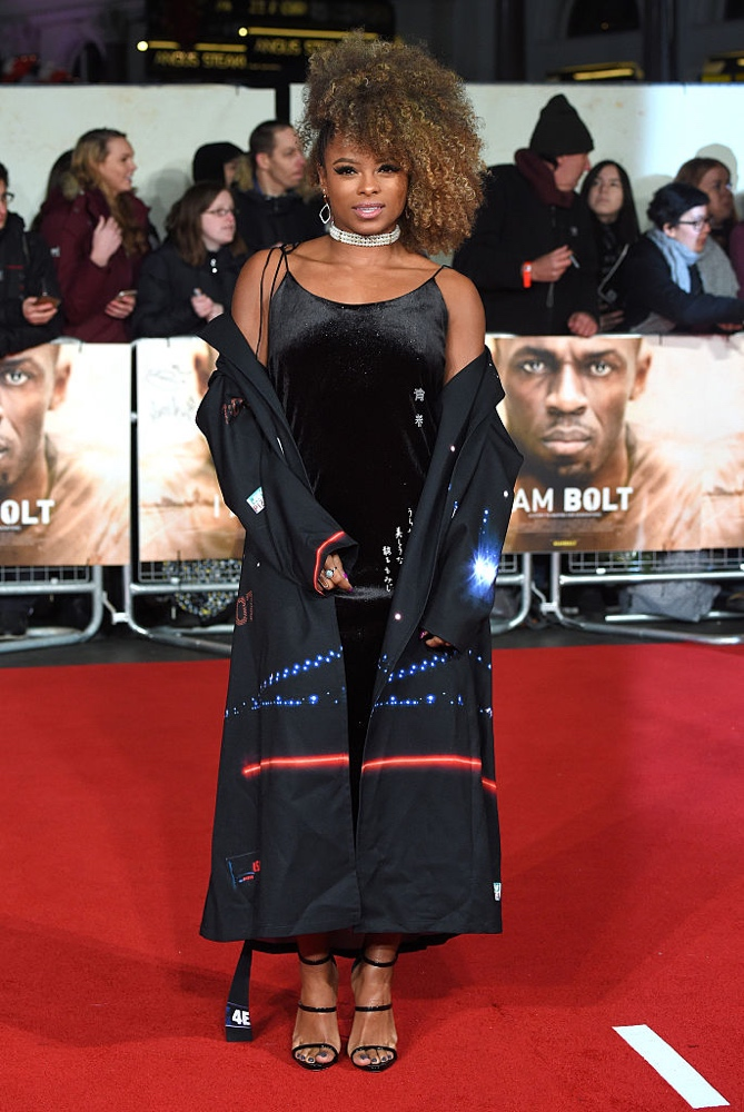 "LONDON, ENGLAND - NOVEMBER 28:  Fleur East attends the World Premiere of ""I Am Bolt"" at Odeon Leicester Square on November 28, 2016 in London, England.  (Photo by Anthony Harvey/Getty Images)"