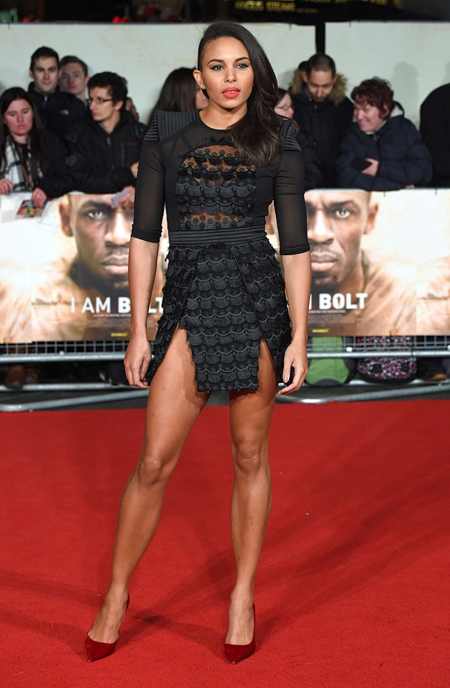 "LONDON, ENGLAND - NOVEMBER 28:  Louise Hazel attends the World Premiere of ""I Am Bolt"" at Odeon Leicester Square on November 28, 2016 in London, England.  (Photo by Anthony Harvey/Getty Images)"