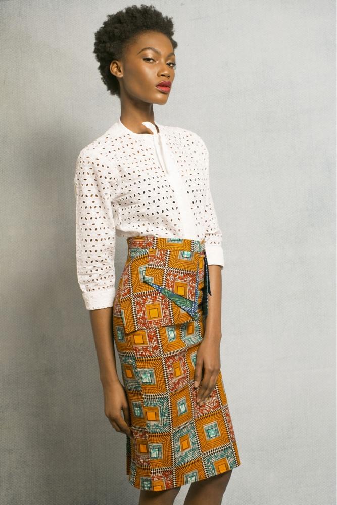 Sola Orange Skirt