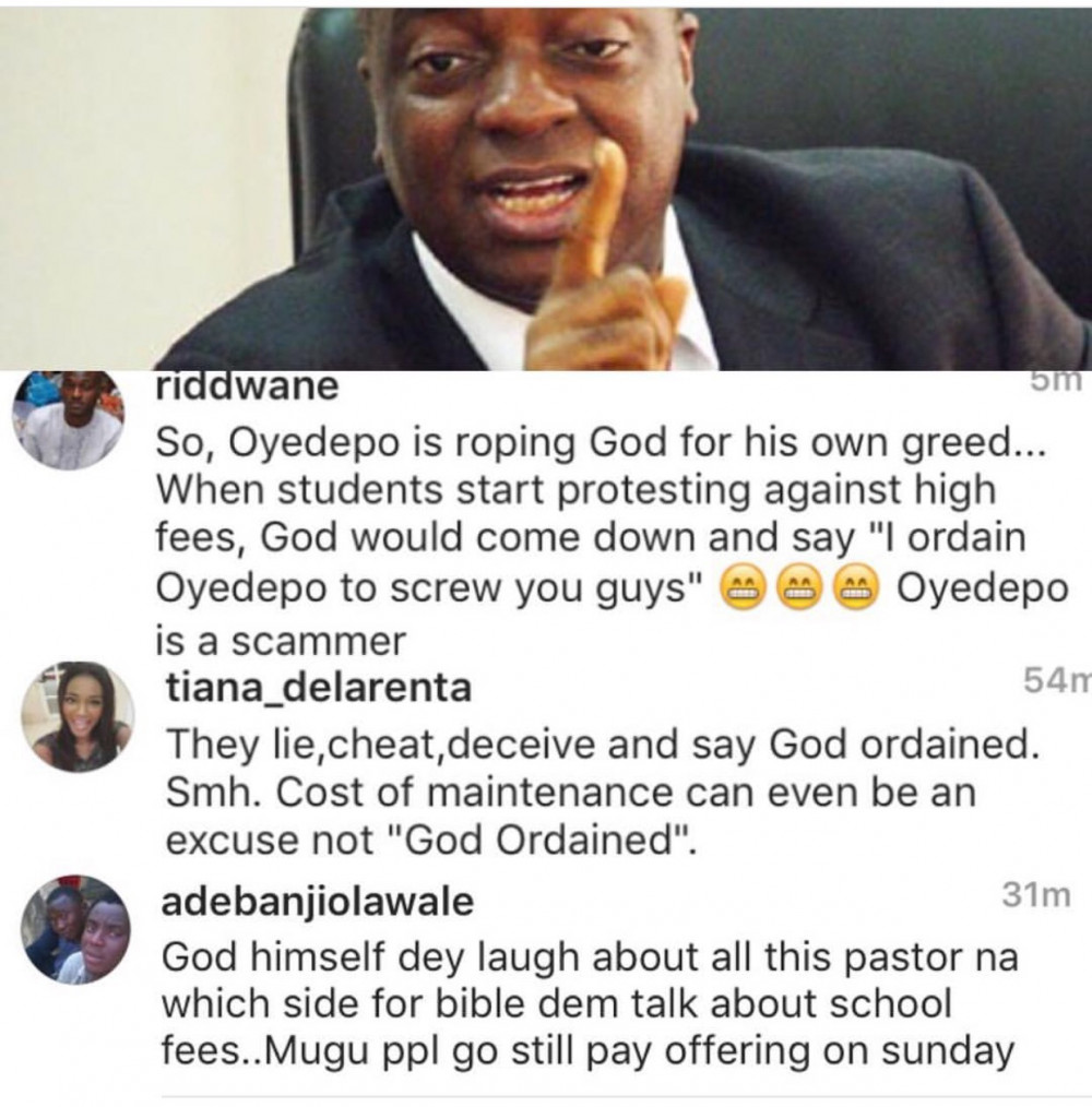 david oyedepo fees