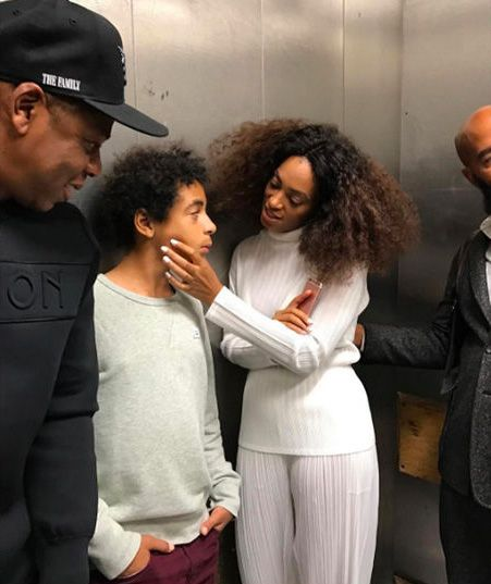 Thanks for the Memories! Tina Knowles Posts, Then Deletes, Pic of Solange and Jay Z Chilling in an Elevator