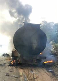 Benin-Asaba Petrol tanker accident2