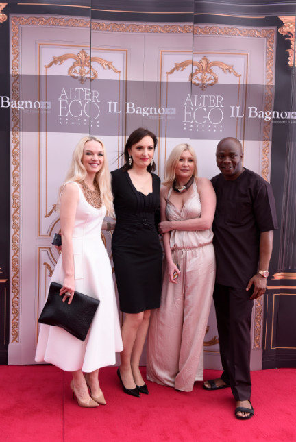 L-R Julia D. Lantieri, CEO, Alter Ego Project Group, Anna Kuzmina, Director, Alter Ego Italian Division, Larisa Girenok, Head of Global Communications & PR, Alter Ego Project Group and Michael Owolabi, CEO, IL Bagno