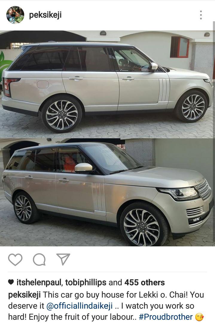 Linda Ikeji Range Rover Autobiography