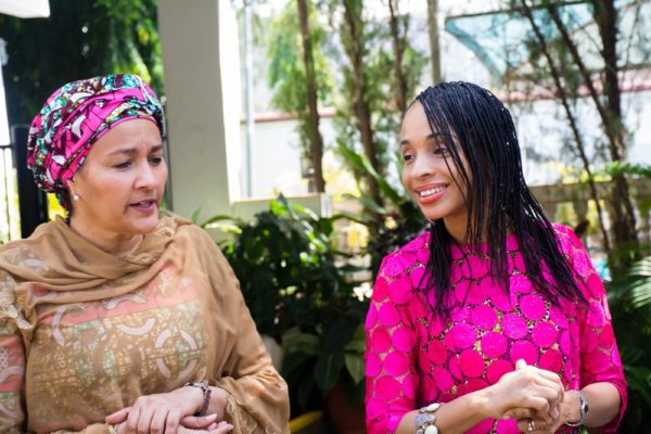 Amina Mohammed, Minister of the Environment and Ndidi Nwuneli, Founder LEAP Africa at a Forum on Reaching Millions with Impact, hosted by the Australian High Commission in Abuja