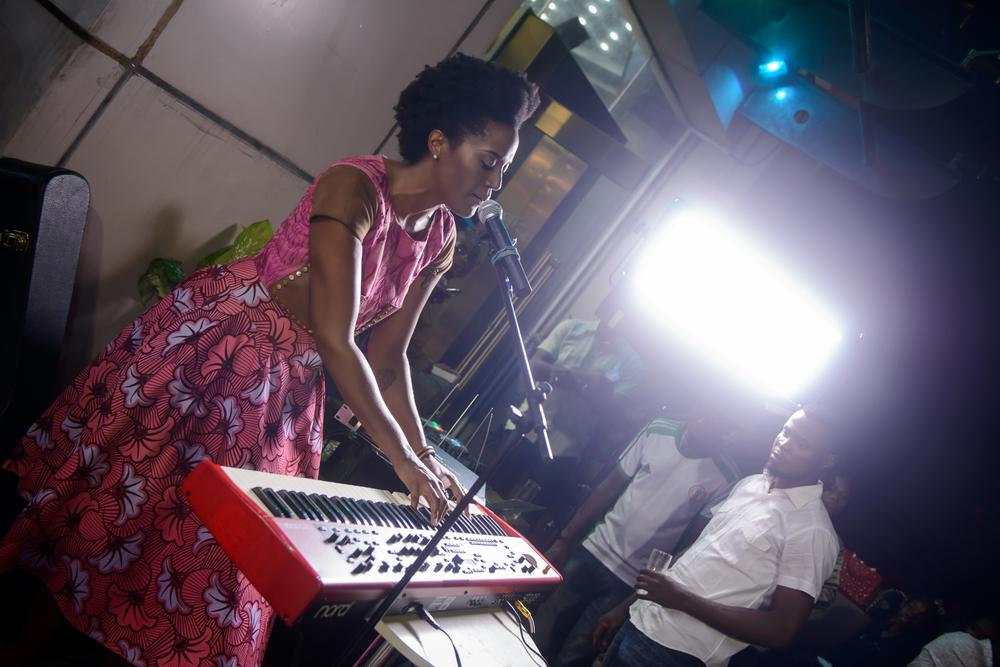 Ayo Awosika performing