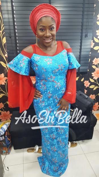 Fabric by @orekefabrics and maekup by @ makeupbychinny