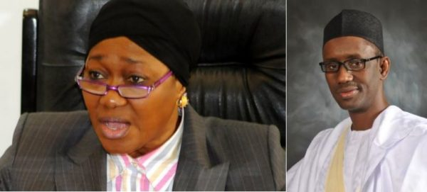 Farida Waziri (L) and Nuhu Ribadu (R)