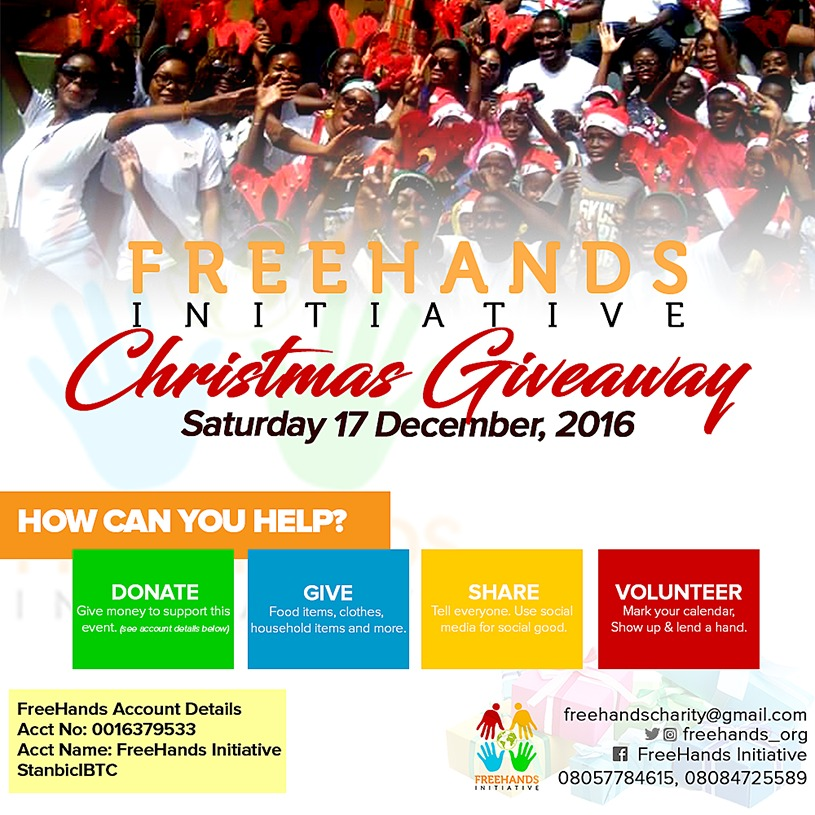 Christmas Giveaway Flyer.Give Volunteer Share The Freehands Initiative Christmas
