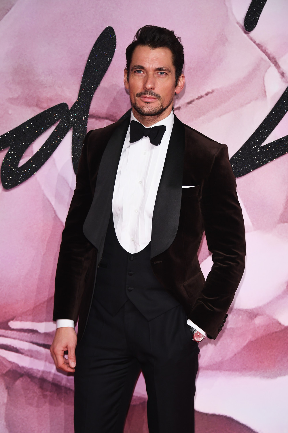 LONDON, ENGLAND - DECEMBER 05: Model David Gandy attends The Fashion Awards 2016 on December 5, 2016 in London, United Kingdom. (Photo by Venturelli/Getty Images for GUCCI)