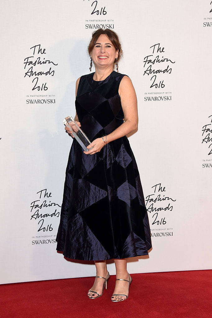 poses in the winners room after winning the award for XXXXXXXXXXXXXXXX at The Fashion Awards 2016 at Royal Albert Hall on December 5, 2016 in London, England.