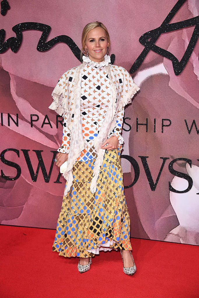 LONDON, ENGLAND - DECEMBER 05: Tory Burch walks the red carpet for the British Fashion Awards 2016 on December 5, 2016 in London, England. (Photo by Venturelli/Getty Images for GUCCI)