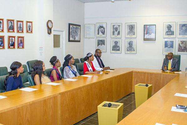 High Commissioner Ambassador Simon Ogah with Founder Dele Onabowu, Sarah Jegede, Onyeka Nweze, Divine Lindo, Mariama Bah.