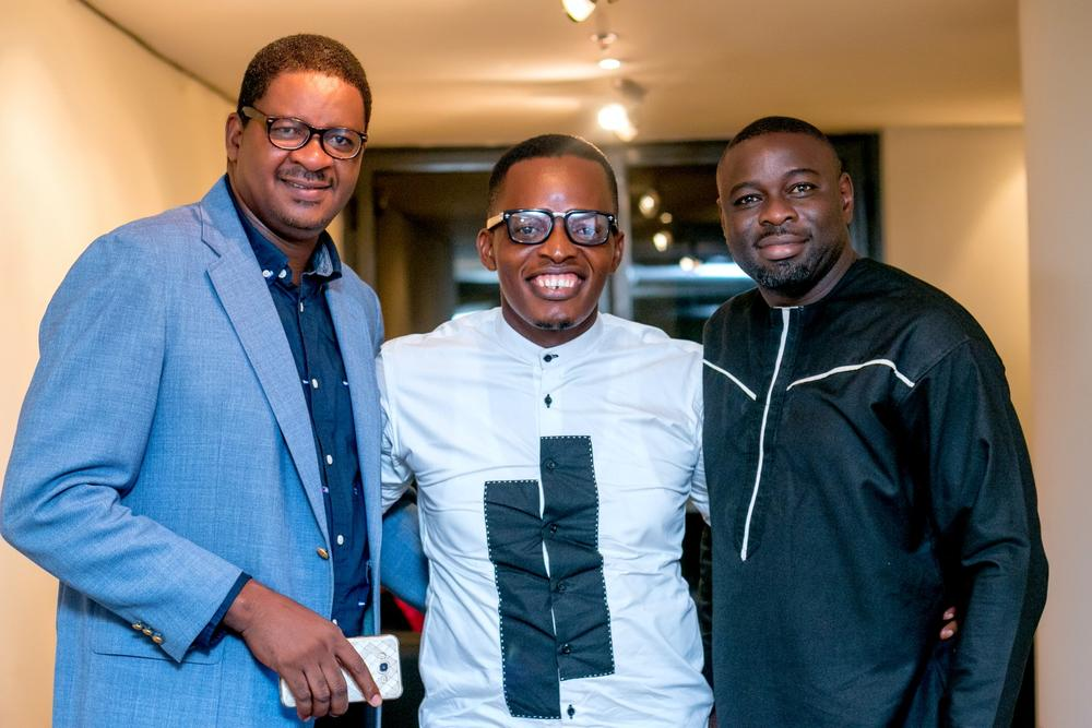 Jerry Isichei, Victor Okpala and a guest