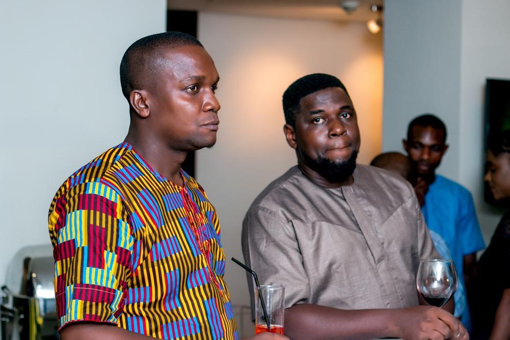 John Oni, GM 1805 Media Marketing and Olayemi Folayan, GM Cellarmade