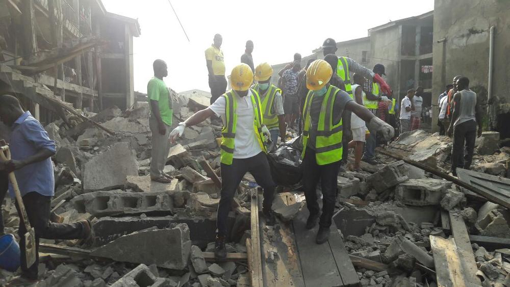 Dead, Scores Trapped As Lagos Police College Building Collapses On Christmas Day