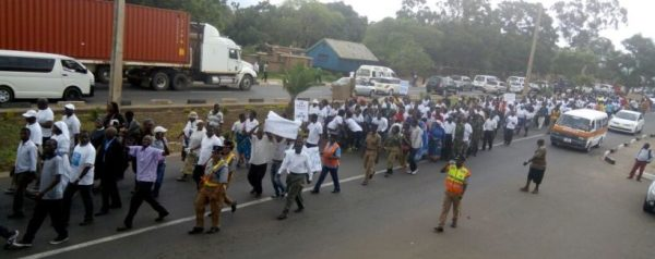 Protesters in Blantyre