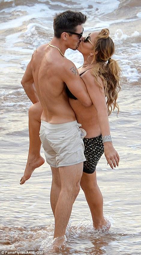 Mariah Carey and Piers Morgan