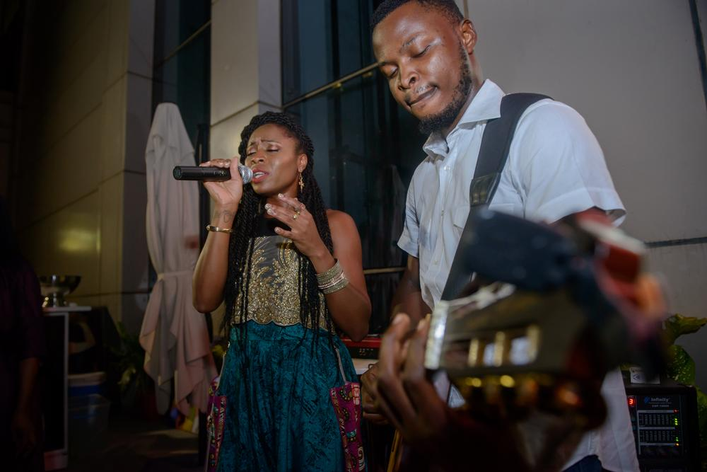 Mary Akpa performing