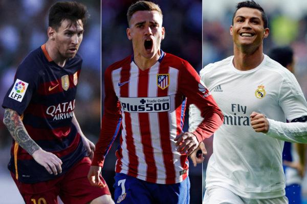 Messi, Griezmann, Ronaldo
