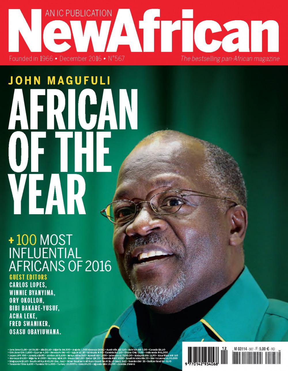 President Magufuli of Tanzania named New African Magazine